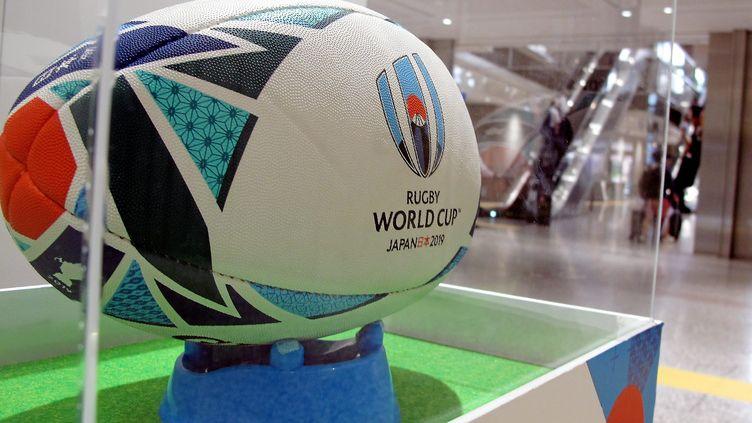 Le ballon de la Coupe du monde de rugby 2019 au Japon. (MAXPPP)