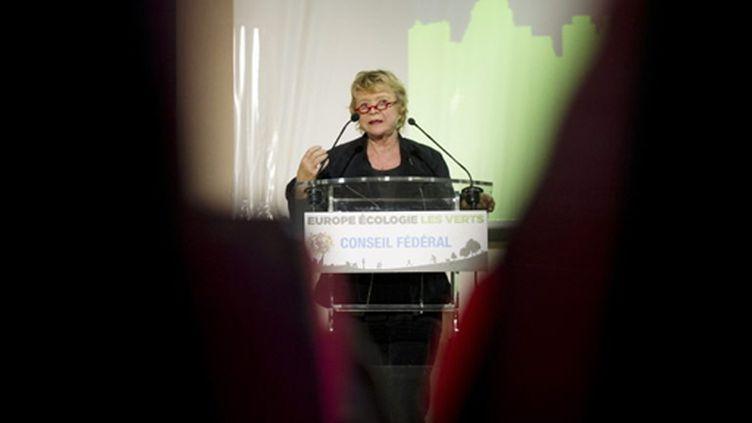 Eva Joly s'exprime lors du conseil fédéral d'Europe Ecologie-les verts le 29 janvier 2011 à Paris (AFP - BERTRAND LANGLOIS)