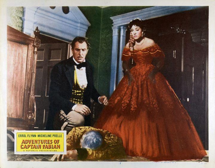 """Micheline Presle et Vincent Price dans """"La Taverne de New Orléans"""" (1951), réalisé et produit par William Marshall. (LES FILMS CORONA / SILVER FILMS)"""