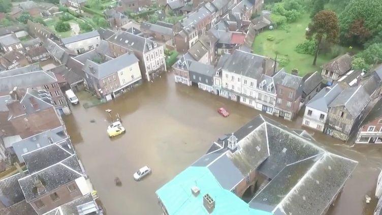 Intempéries : des pluies torrentielles ont touché la Normandie. (FRANCE 3)