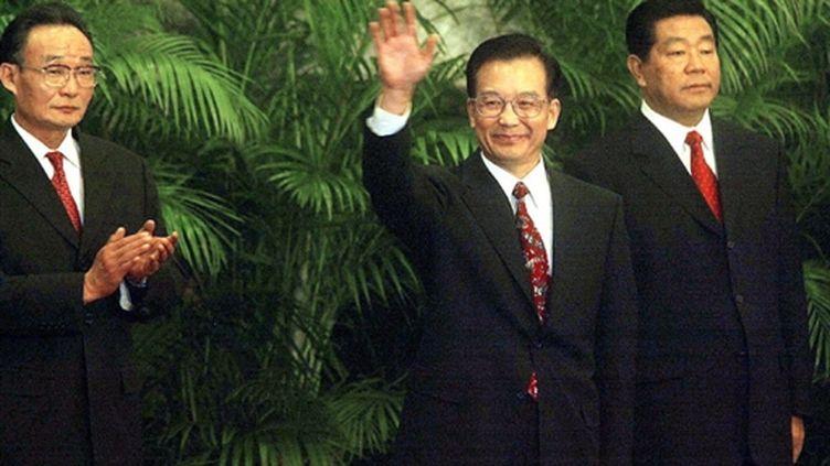 Le premier ministre chinois, Wen Jiabao (au centre) (AFP PHOTO/Frederic J. BROWN)