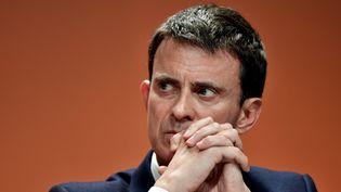 Manuel Valls, le 5 mai 2017 à Paris. (PHILIPPE LOPEZ / AFP)