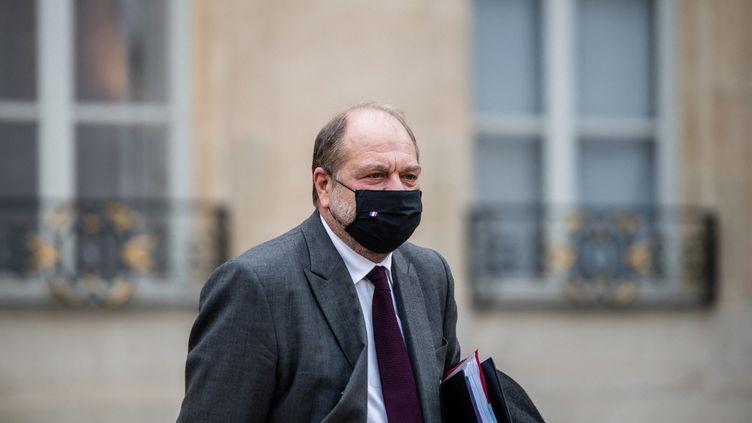 Le ministre de la Justice, Eric Dupont-Moretti, dans la cour de l'Elysée, le 9 décembre 2020. (ARTHUR NICHOLAS ORCHARD / HANS LUCAS / AFP)