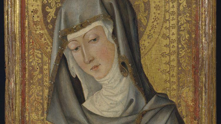 Vierge en buste (détail), Peintre valencien, vers 1450 (© Christie's)