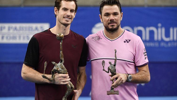 Andy Murray avait battu Stan Wawrinka lors de leur dernier match en octobre dernier, en finale du tournoi d'Anvers (JOHN THYS / BELGA)