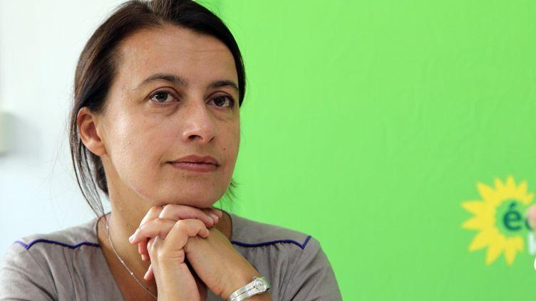 La députée EELV Cécile Duflotà l'université d'été de son parti, le 21 août 2014à Bordeaux. (ALAIN ROBERT / SIPA)