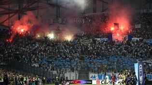 Par le biais d'un décret, le mercredi 20 octobre 2021, le ministère de l'Intérieur a interdit le déplacement des supporters parisiens à Marseille. (SYLVAIN THOMAS / AFP)