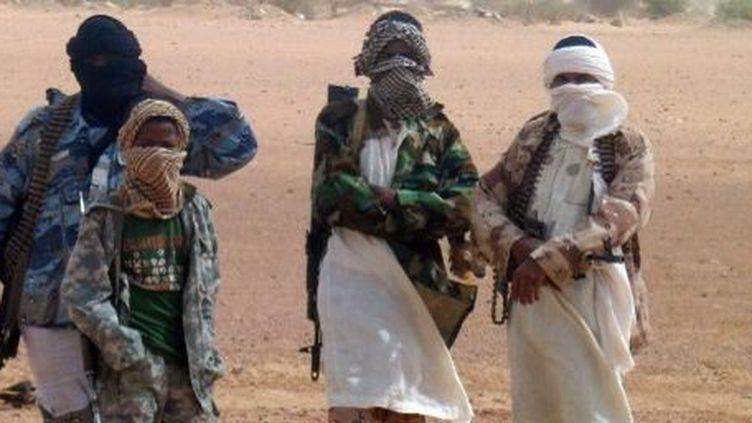 Des combattants d'Ansar Dine à Kidal, au nord du Mali, le 7 août 2012. (AFP/ROMARIC OLLO HIEN)
