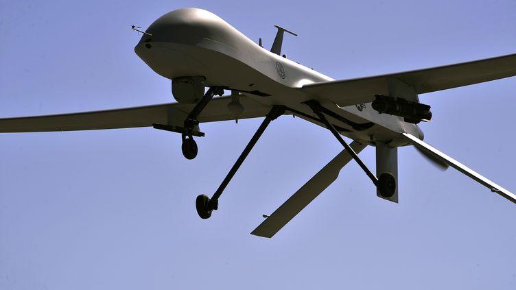 Un drone des forces américaines. Trois responsables du groupe Etat islamique ont été tués par une frappe de l'un de ces appareils à Raqqa, en Syrie, le 4 décembre 2016. (US AIR FORCE / AFP)