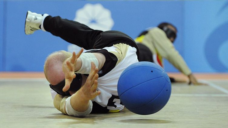 Le goalball est un sport paralympique (OLIVIER PAPEGNIES / BELGA MAG)
