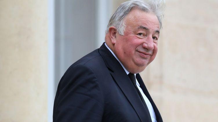 Gérard Larcher, président du Sénat, quitte l'Elysée, à Paris, le 10 décembre 2018. (LUDOVIC MARIN / AFP)