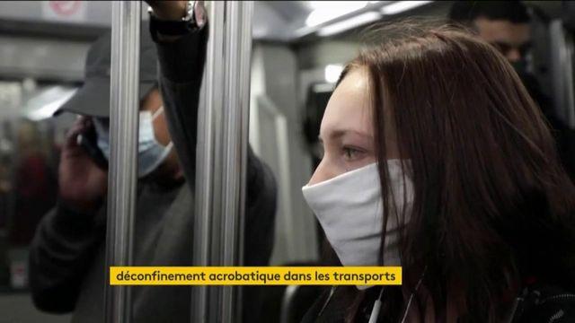Déconfinement dans les transports compliqué à Paris, plus aisé à Lyon