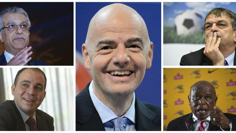 Les cinq candidats à la présidence de la FIFA