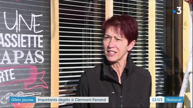 """""""Gilets jaunes"""" : importants dégâts à Clermont-Ferrand"""