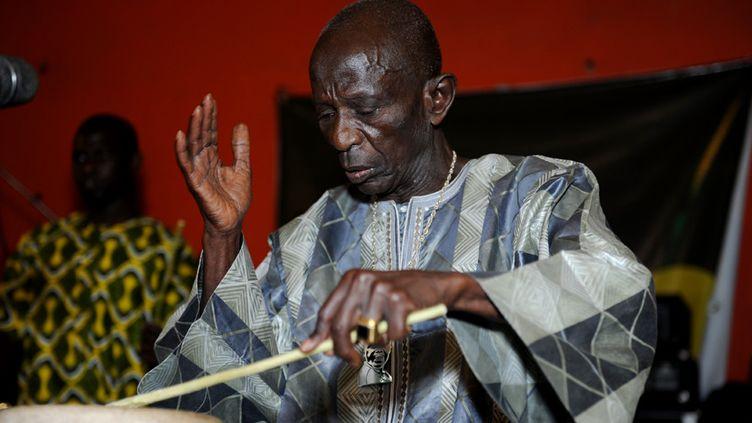 Doudou Ndiaye Rose le 29 avril 2013 à Dakar  (Photo Seyllou / AFP)
