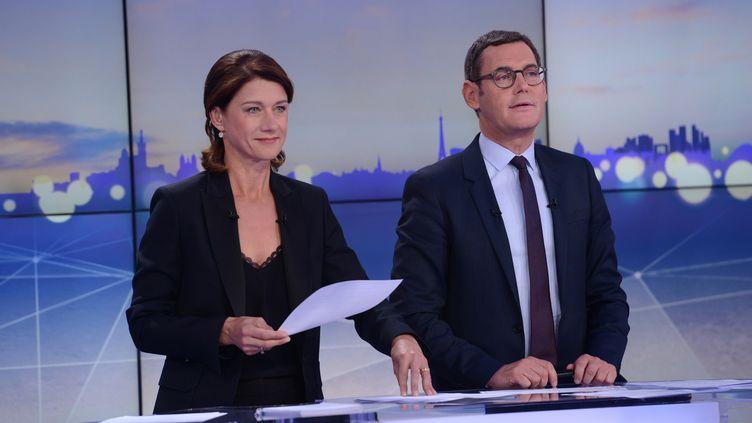 Les présentateurs de France 3:Carole Gaessler et Francis Letellier. (CHRISTOPHE FILLIEULE)