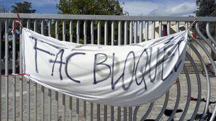 L'université Paul-Valery de Montpellier bloquée, ici le 28 mars 2018. (JEAN-MARC LALLEMAND / BELGA MAG / AFP)