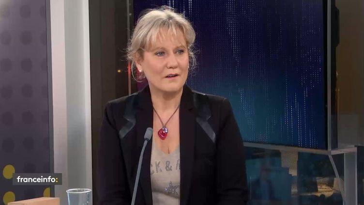 """Nadine Morano, eudéputée LR, était l'invité du """"18h50 franceinfo"""" mardi 8 décembre. (FRANCEINFO / RADIO FRANCE)"""