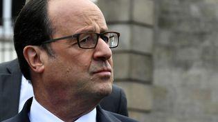 François Hollande à Tulle (Corrèze), le 7 mai 2017. (GEORGES GOBET / AFP)