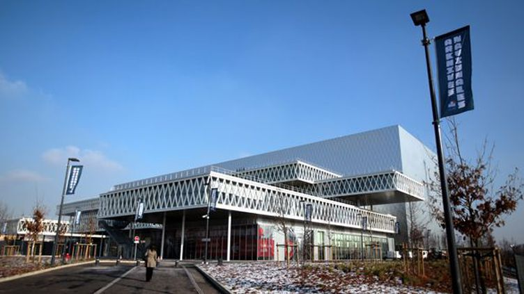Le nouveau bâtiment des Archives Nationales à Pierrefitte-sur-Seine, janvier 2013.  (PHOTO PQR/LE PARISIEN/OLIVIER ARANDEL)
