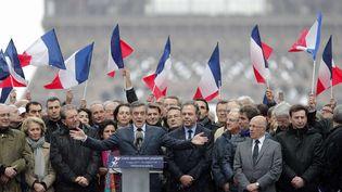 Le candidat Les Républicains à la présidentielle, François Fillon, le 5 mars 2017 à Paris. (CHRISTOPHE ENA / AP / SIPA)
