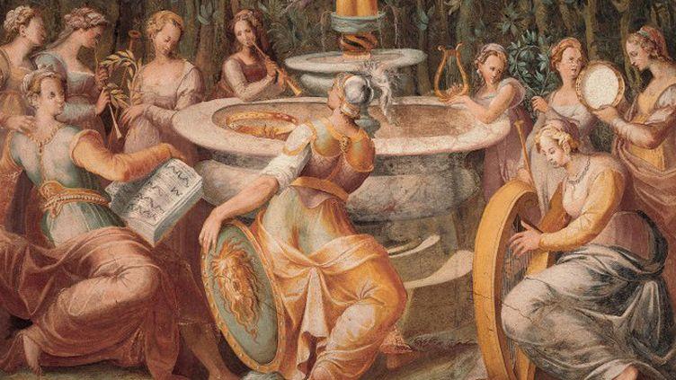 """""""Concert de muses"""" de Salvio Savini 1580 Citta della Pieve (Perugia), Palazzo della Corgna o Palazzo Mazzuo  (Leemage)"""