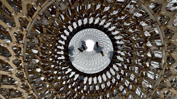 Le pavillon britannique de l'Exposition universelle 2015à Milan, une ruche d'aluminium géante  (Giuseppe Cacace / AFP)