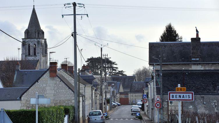 """Benais (Indre-et-Loire), le village de Sylviane Hamon, la """"Madoff de Touraine"""", le 30 décembre 2011. (ALAIN JOCARD / AFP)"""