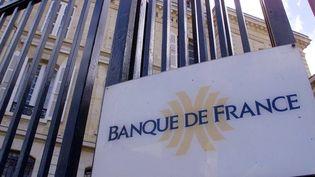 Plaque sur une grille d'une Banque de France. (MAXPPP)