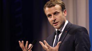 Emmanuel Macron à Göteborg (Suède), le 17 novembre 2017. (LUDOVIC MARIN / AFP)