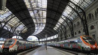 La gare de France à Barcelone (Espagne), le 14 avril 2020. (JOAN VALLS / NURPHOTO / AFP)