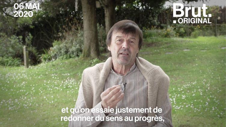 """VIDEO. """"On ne peut pas bâtir un modèle sur le dos de la nature"""" : l'appel de Nicolas Hulot (BRUT)"""