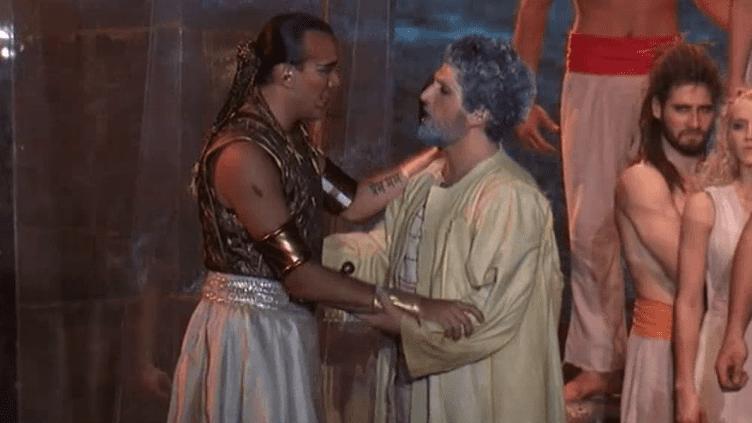 Scène entre Moïse et Ramsès, nouvelle spectacle Des Dix Commandements  (Capture d'image France3/Culturebox)
