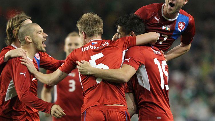 Les coupes de cheveux des joueurs tchèques (cru 2012) sont bien sages en comparaison des folies capillaires des dernières années... (PETER MUHLY / AFP)