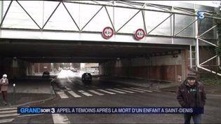 Sous ce pont de l'A1 à Saint-Denis (Seine-Saint-Denis), un enfant a été percuté mortellement par une camionnette (FRANCE 3)