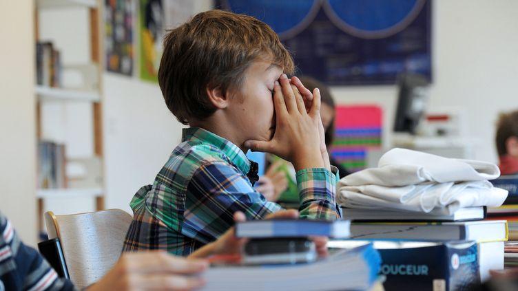 Un élève d'une école de Strasbourg, en septembre 2012. (FREDERICK FLORIN / AFP)