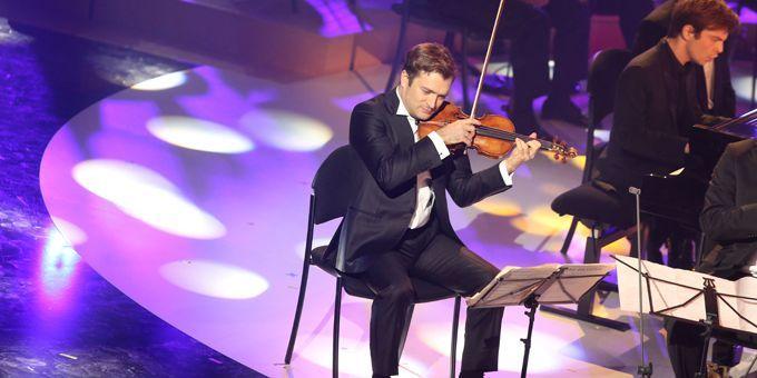 Le violoniste Renaud Capuçon, invité des Victoires classiques à Bordeaux (25/02/2013)  (Nicolas Tuscat / AFP)