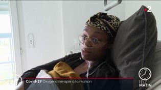 Geneviève Biluila, soignée par oxygénothérapie (France 2)