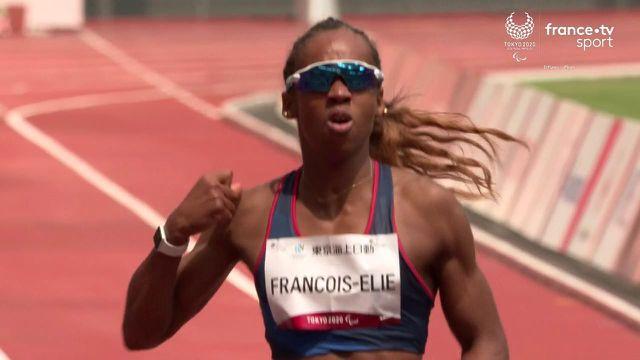 """Belle performance de Mandy François-Elie qui remporte sa série du 200 m T3 en 27""""43 ! La Française améliore son record personnel et se qualifie pour la finale."""