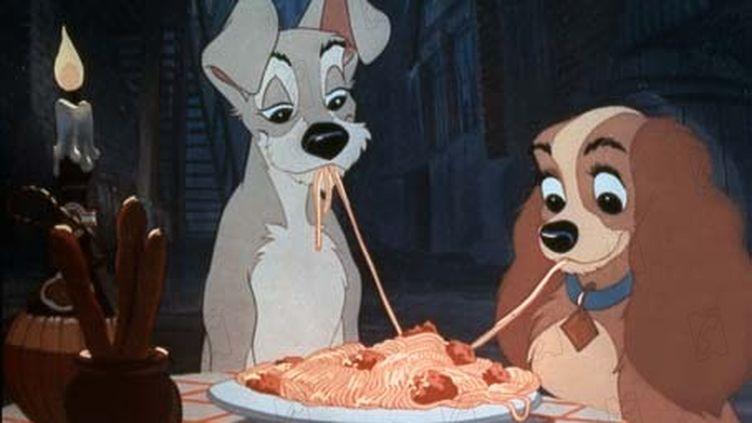 """Une image du dessin animé """"La Belle et le clochard"""" de Walt Disney. (DR)"""