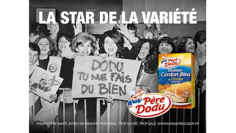 L'affiche publicitaire pour Père Dodu, sur laquelle une Amiénoise affirme être présente, a été diffusée sur 9 000 panneaux publicitaires en France. (MRM / MC CANN)