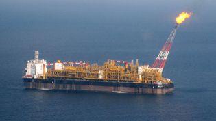 """Le """"Dalia"""" de la compagnie Total au large de l'Angola le 31 mai 2007. Le navire assure à la fois le pompage, le stockage et le transbordement du pétrole vers les pétroliers. Il peut stocker l'équivalent de 8 jours d'extraction. (REUTERS  STAFF)"""