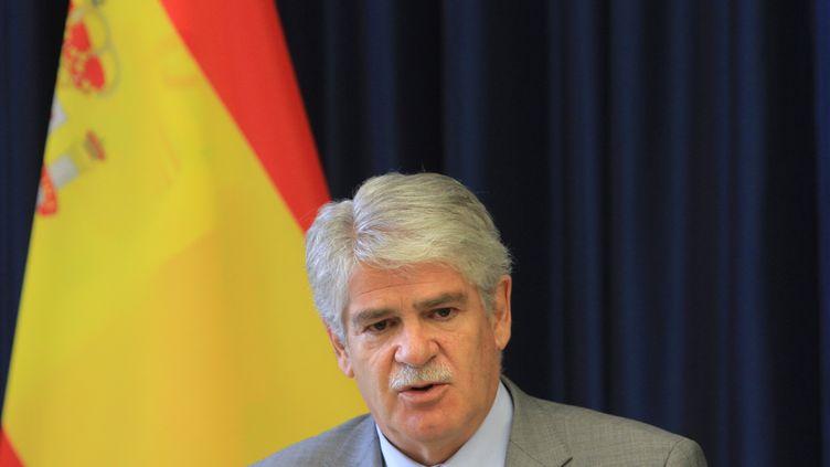 Alfonso Dastis, ministre espagnol des Affaires étrangères, le 21 juin 2017. (PETRAS MALUKAS / AFP)