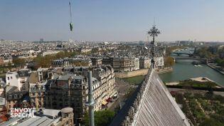 Quand les statues de Notre-Dame s'envolaient pour être restaurées... quatre jours avant l'incendie (ENVOYÉ SPÉCIAL  / FRANCE 2)