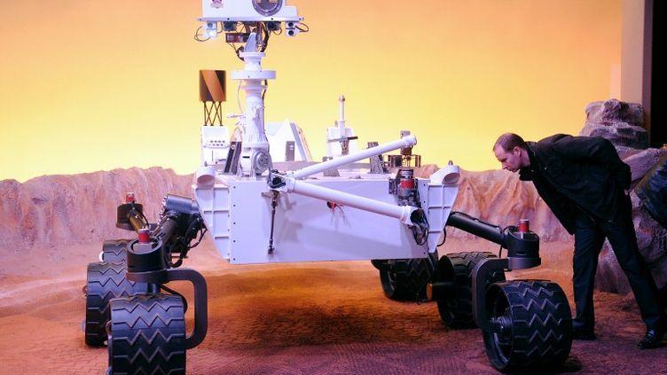 Une exposition consacrée à la découverte de la planète Mars, à la Cité de l'Espace de Toulouse (Haute-Garonne), le 16 février 2012. (REMY GABALDA / AFP)