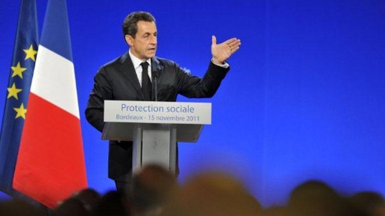 Le discours de Nicolas Sarkozy à Bordeaux (15/11/2011) (AFP)