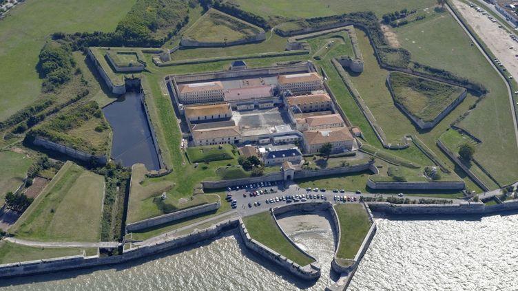 Vue aérienne de la prison de Saint-Martin-de-Ré (Charente-Maritime). (BRUNO BARBIER / ONLY FRANCE / AFP)
