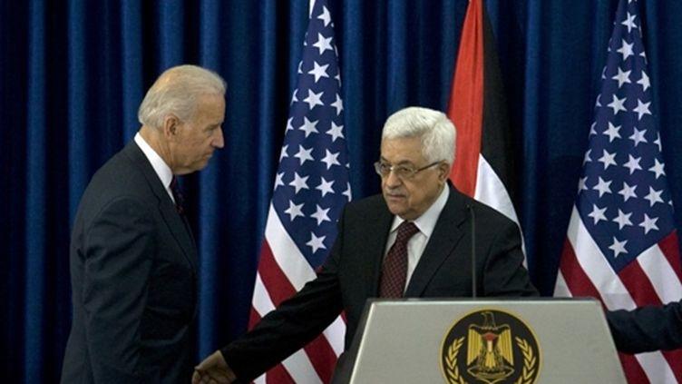 Rencontre entre le vice président américain Joe Biden et le président de l'Autorité palestinienne (10 mars 2010) (AFP/DAVID FURST)