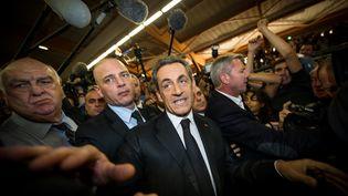 L'ancien président de la République, Nicolas Sarkozy, le 25 septembre 2014, à Lambersart (Nord). (PHILIPPE HUGUEN / AFP)