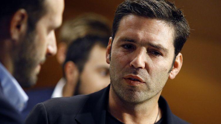 Dimitri Yachvili, consultant rugby pour france.tv sport. (BENJAMIN CREMEL / AFP)